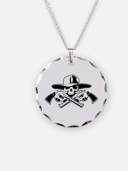 Bandito Skull w/ Pistolas Necklace