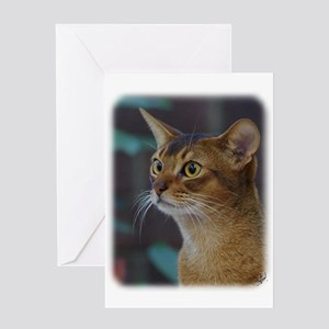 Abyssinian Cat AA025D-018 Greeting Card