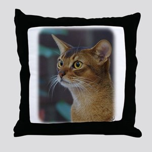 Abyssinian Cat AA025D-018 Throw Pillow