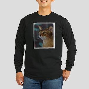 Abyssinian Cat AA025D-018 Long Sleeve Dark T-Shirt