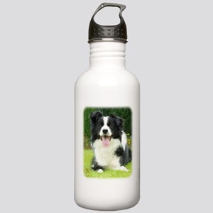 Border Collie 9A014D-14 Stainless Water Bottle 1.0