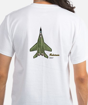 MiG-29 on Back of Tee White T-Shirt
