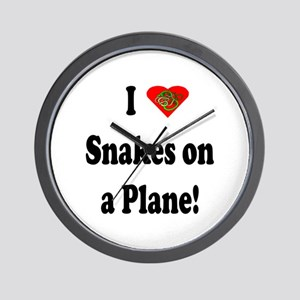 I Heart Snakes On A Plane Wall Clock