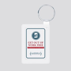 Get Out of Work Free 02 Aluminum Photo Keychain