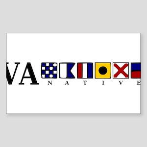 VA native Sticker (Rectangle 10 pk)