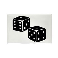 Vintage Dice Icon Rectangle Magnet