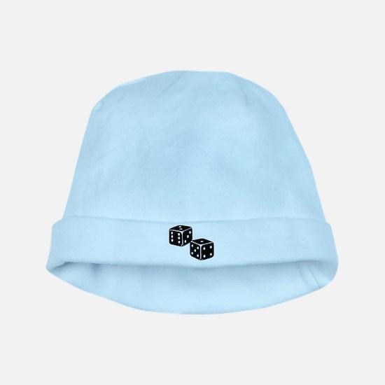 Vintage Dice Icon baby hat