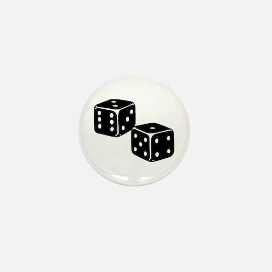 Vintage Dice Icon Mini Button