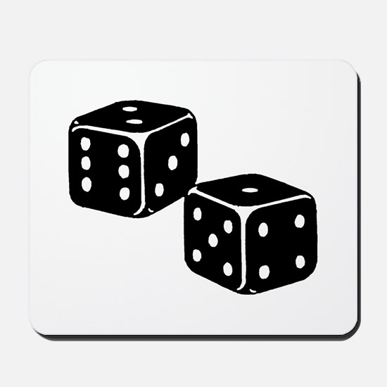 Vintage Dice Icon Mousepad