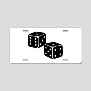 Vintage Dice Icon Aluminum License Plate