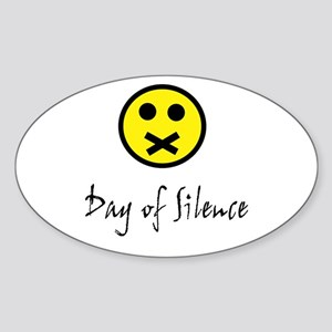 Day of Silence Oval Sticker