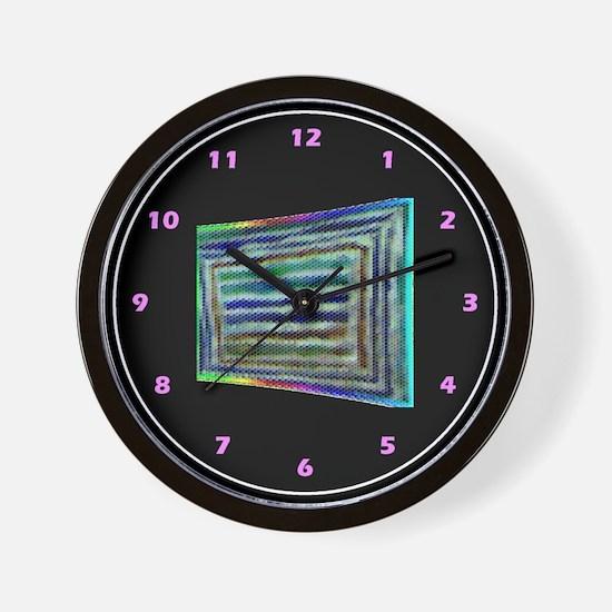 RAINBOW PRIDE ABSTRACT_textured look- Wall Clock