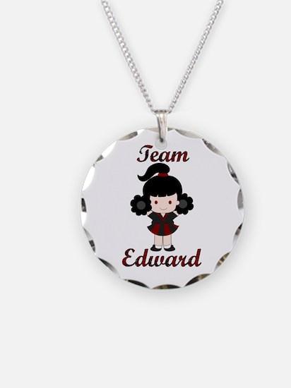 Team Edward Cheerleader Necklace