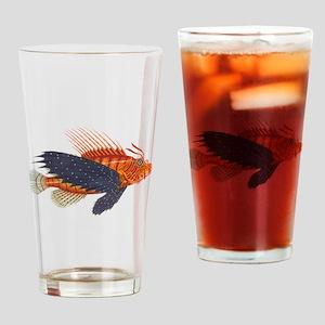 Vintage Red Wildflower Corncockle Pint Glass