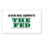 The Fed - Ask Me Sticker (Rectangle 10 pk)