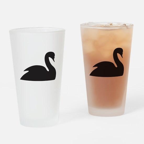 Black Swan Silhouette Pint Glass