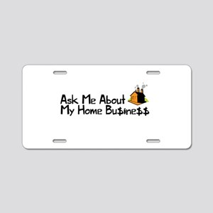 Home Business - Ask Me Aluminum License Plate