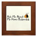 Home Business - Ask Me Framed Tile