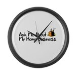 Home Business - Ask Me Large Wall Clock