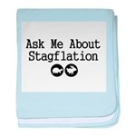 Stagflation - Ask Me baby blanket