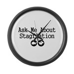 Stagflation - Ask Me Large Wall Clock