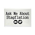 Stagflation - Ask Me Rectangle Magnet (100 pack)