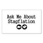 Stagflation - Ask Me Sticker (Rectangle 50 pk)