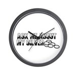 Silver Money - Ask Me Wall Clock