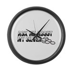 Silver Money - Ask Me Large Wall Clock