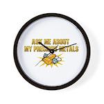 Precious Metals - Ask Me Wall Clock
