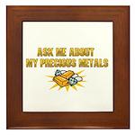 Precious Metals - Ask Me Framed Tile