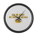 Precious Metals - Ask Me Large Wall Clock