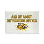 Precious Metals - Ask Me Rectangle Magnet (100 pac