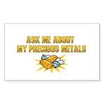 Precious Metals - Ask Me Sticker (Rectangle 50 pk)