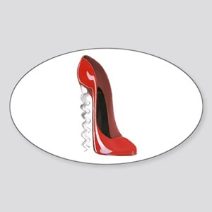 Corkscrew Heel Stiletto Shoe Sticker (Oval)