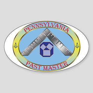PA Past Master Sticker (Oval)