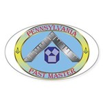 PA Past Master Sticker (Oval)