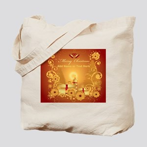 Luxury gold and red Merry Chr Tote Bag