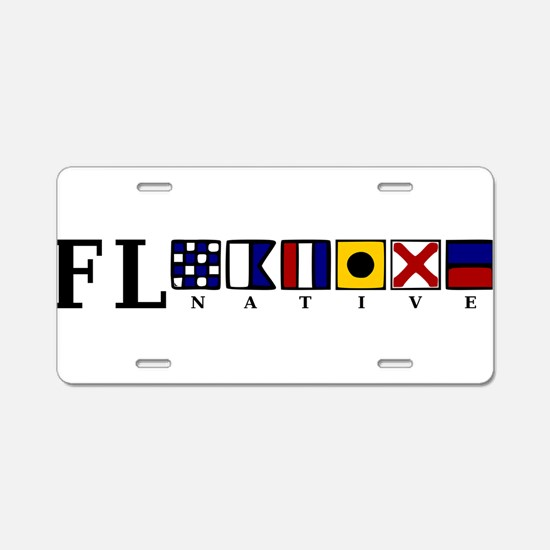 FL native Aluminum License Plate
