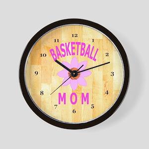 Basketball Mom Wall Clock