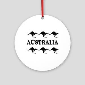 Kangaroos Australia Ornament (Round)