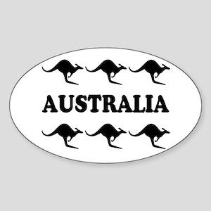 Kangaroos Australia Oval Sticker
