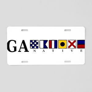GA native Aluminum License Plate