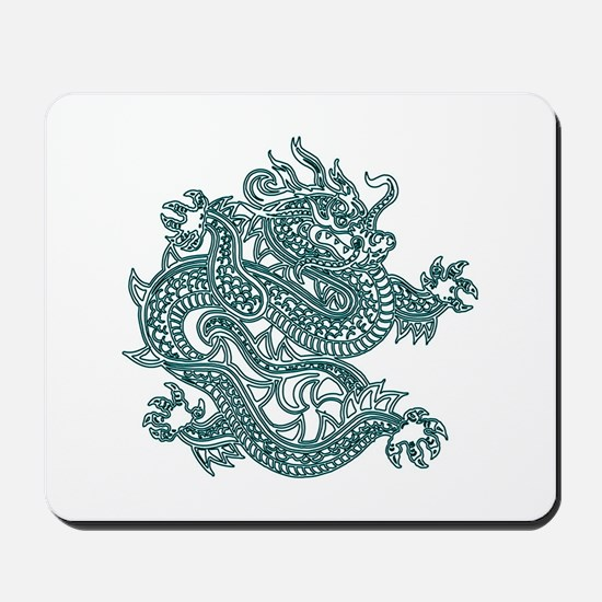 Teal Dragon Mousepad
