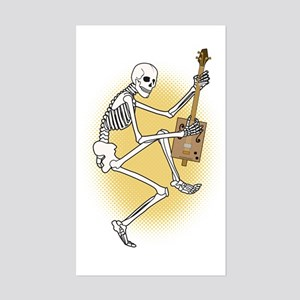 CBG Playing Skeleton Sticker (Rectangle)