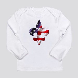 Fleur de lis Stars & Stripes Long Sleeve Infant T-