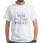 John Simpson White T-Shirt