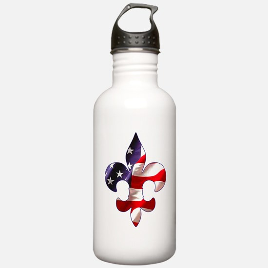 Fleur de lis Stars & Stripes Water Bottle
