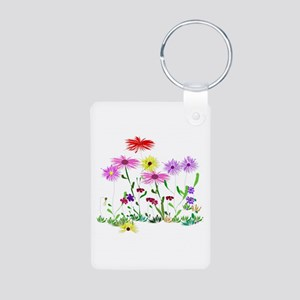 Flower Bunch Aluminum Photo Keychain
