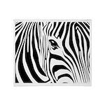 Zebra Art Throw Blanket